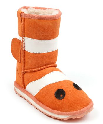 Orange Little Creatures Clown Fish Boot - Kids