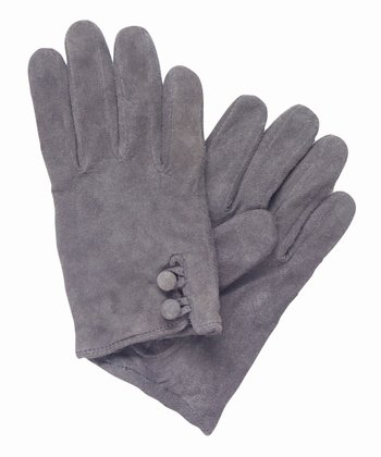 Charcoal Emita Suede Gloves - Women