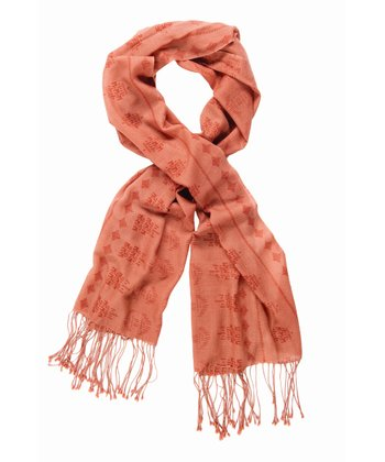 Red Earth Fainters Fall Merino Wool Scarf - Women