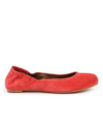 Strawberry Suede Avoca Ballet Flats - Women