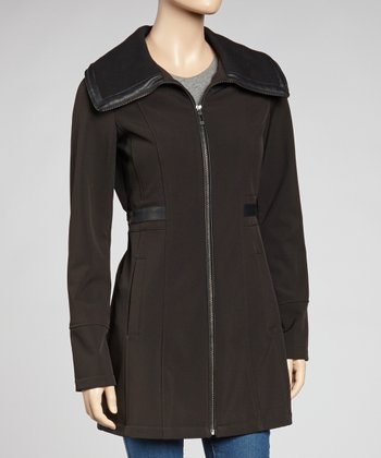 Black Oversize Collar Jacket