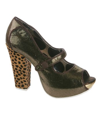 Gold Sightseeing Mary Jane Pump