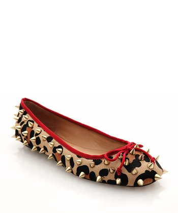 Brown & Red Leopard Ballet Flat