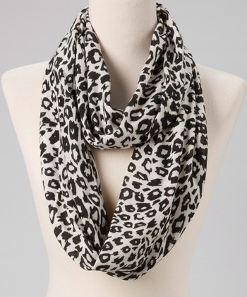 Black & White Animal Infinity Scarf