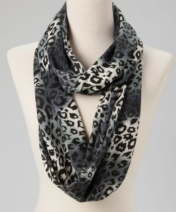 White & Black Animal Infinity Scarf