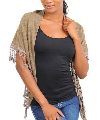 Light Brown Fringe Wrap