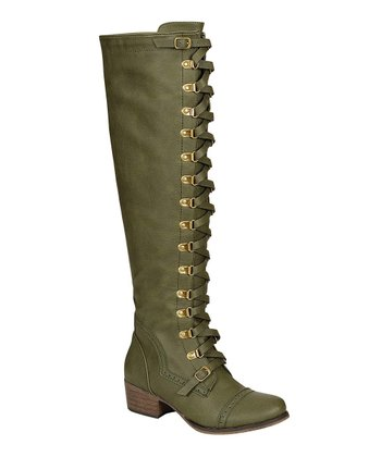 Military Green Alabama Boot