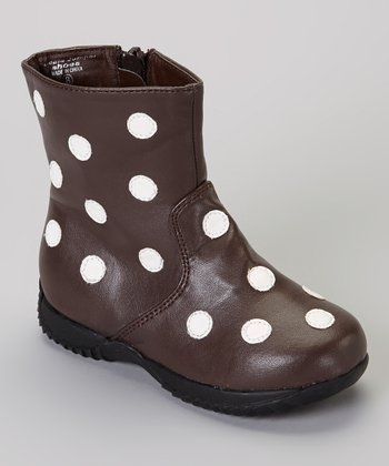 Brown & White Polka Dot Boot