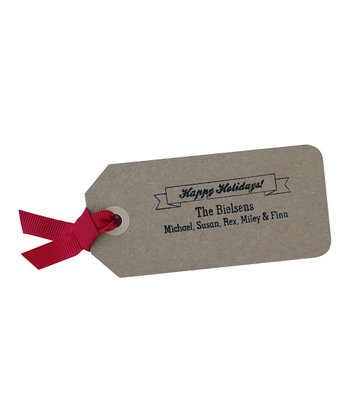 Holiday Banner Personalized Self-Inking Stamp