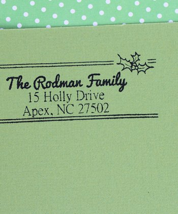 Happy Holly Personalized Self-Inking Stamp
