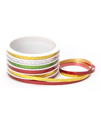 Christmas Holographic Six-Channel Ribbon Spool - Set of Three