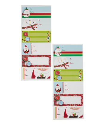 Santa & Snowman Label Sheet - Set of 36