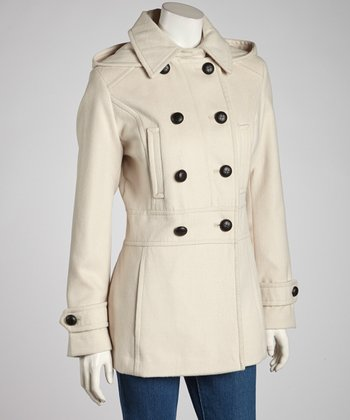 Vanilla Removable Hood Peacoat