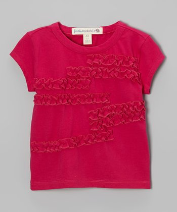 Fuchsia Ruffle Tee - Toddler & Girls