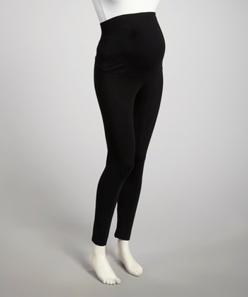 Black Over-Belly Maternity Leggings