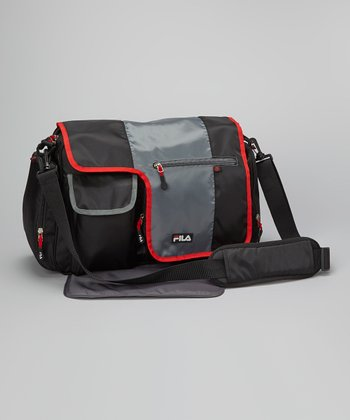 Black & Red Diaper Backpack