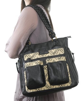 Black Jasmine Diaper Bag