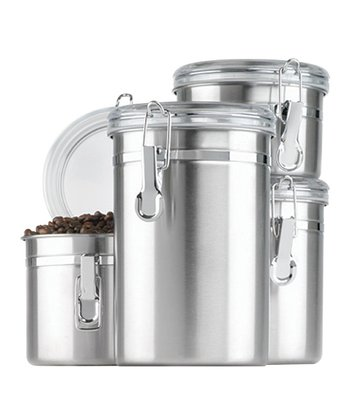 Stainless Steel Clamp Canister Set