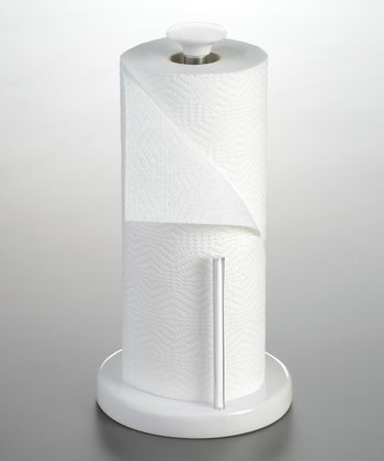 White Paper Towel Holder