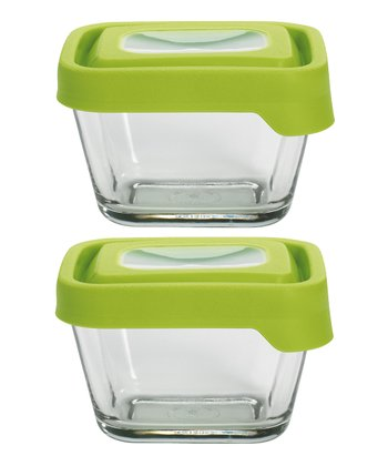 Green 1.8-Cup Rectangular TrueSeal Storage Container - Set of Two