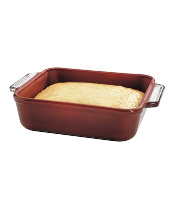 Brick Red Nonstick 8'' Square Cake Dish