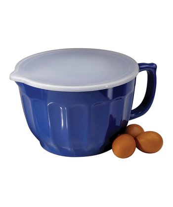 Blue 4-Qt. Covered Batter Bowl