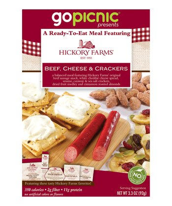 Hickory Farms Beef, Cheese & Crackers Meal - Set of Six