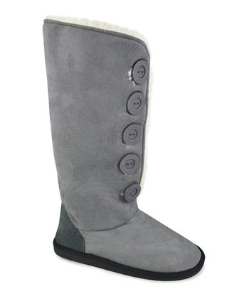 Gray Button-Up Malena Boot - Women