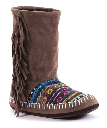 Brown Tiffany Slipper Boot - Women