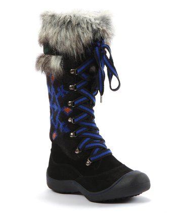 Black Gwen Tribal Snow Boot - Women