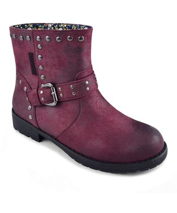Burgundy Bailee Buckle Boot - Women