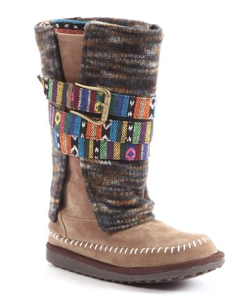 Brown Nikki Belt-Wrapped Boot - Women