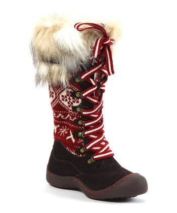 Brown Gwen X Fair Isle Snow Boot - Women