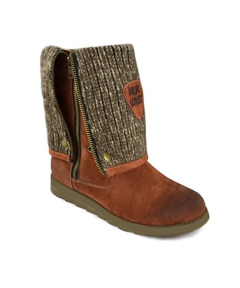 Rust Demi Zip-Up Boot - Women