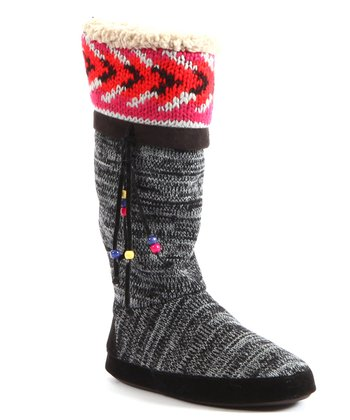 Black Marisa Slipper Boot - Women