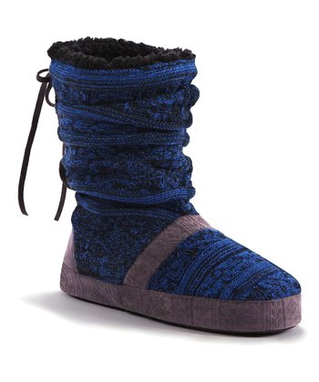 Black Jenna Slipper Boot - Women