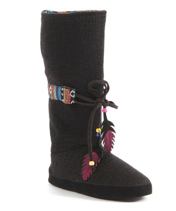 Black Jasmine Slipper Boot - Women