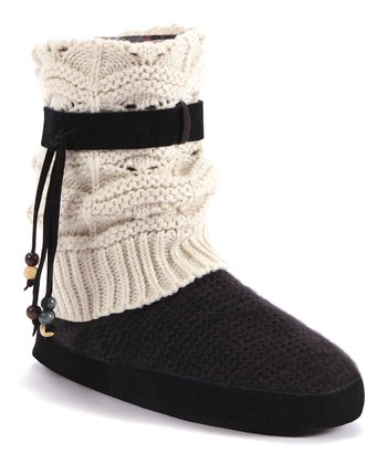 Ivory Sofia Slipper Boot - Women
