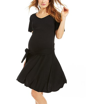 Black Ariane Maternity Dress