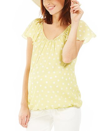 Yellow Floral Dolly Maternity Top