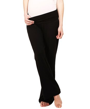Black Kris Under-Belly Maternity Lounge Pants