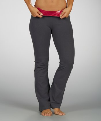 Sizzling Coral Power Play Flat-Waist Yoga Pants