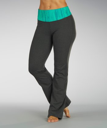 Peacock Green Jewel Expression Tummy Control Pants