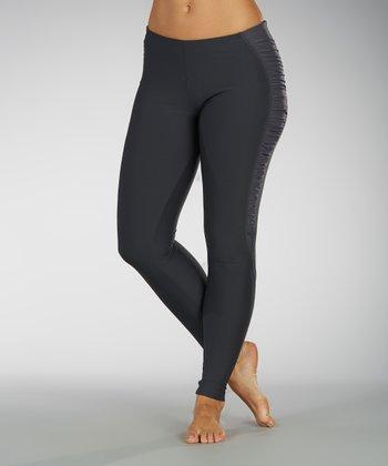 Carbon Ruched-Side Leggings