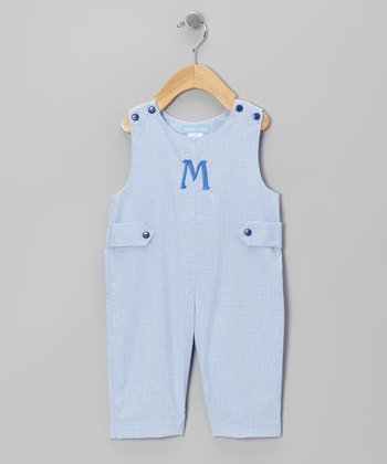 Blue Initial Overalls - Infant & Toddler