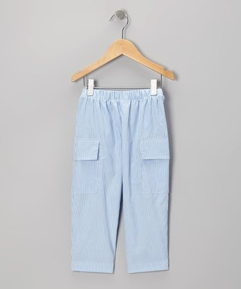 Blue Stripe Cargo Pants - Toddler & Boys