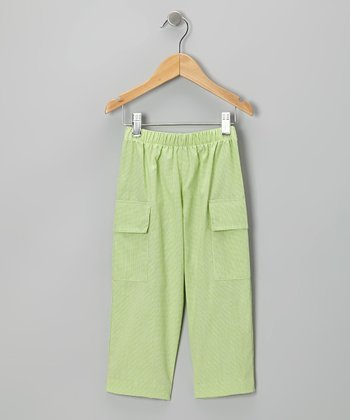 Lime Green Cargo Pants - Toddler & Boys
