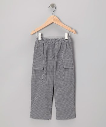 Black Gingham Cargo Pants - Toddler & Boys