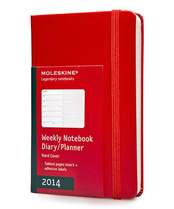 Red 12-Month Weekly Hardcover Pocket Planner