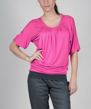 Pink Operetta Transi Maternity & Nursing Top - Women